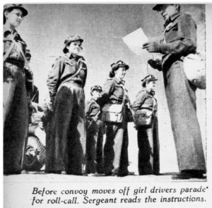 Parade - 1944 02 12 - Convoy Girls of the ATS 1A BW