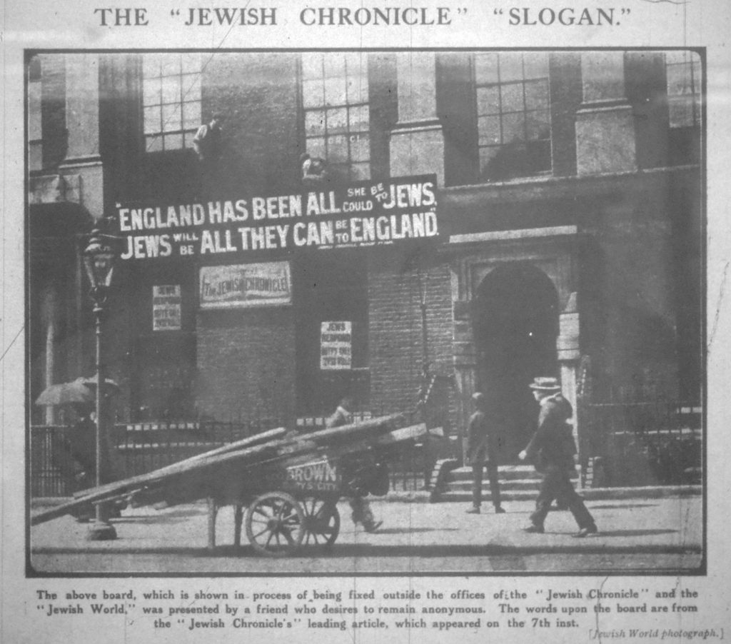London Jewish Chronicle 1914 08 19